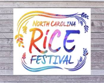 North Carolina Rice Festival sign