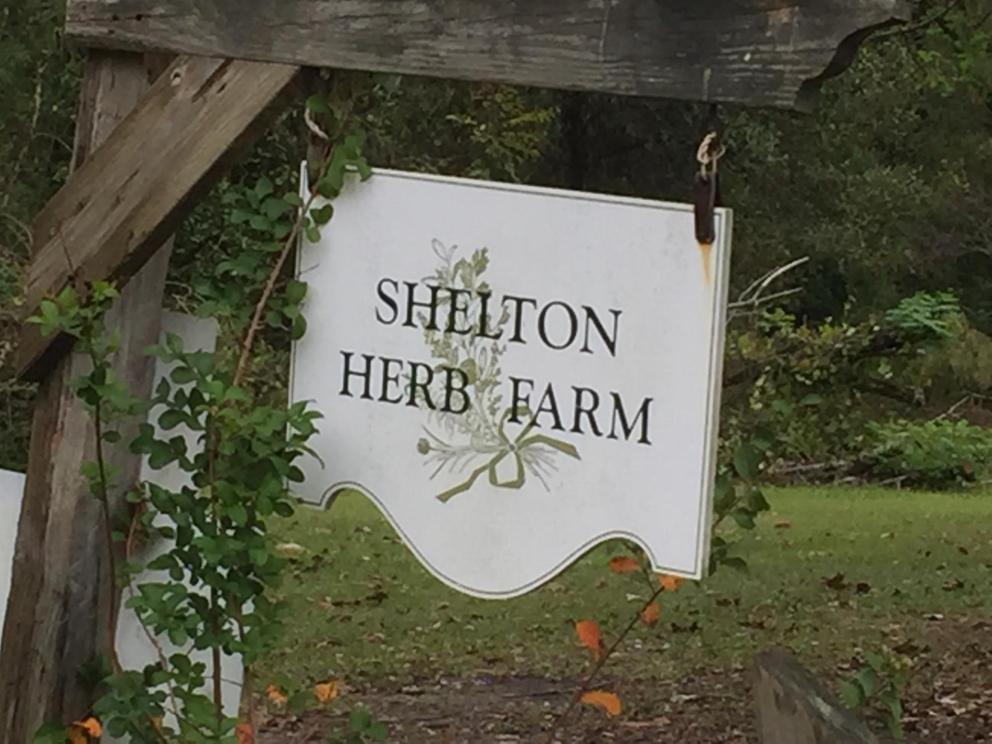 Shelton Herb Farm Sign